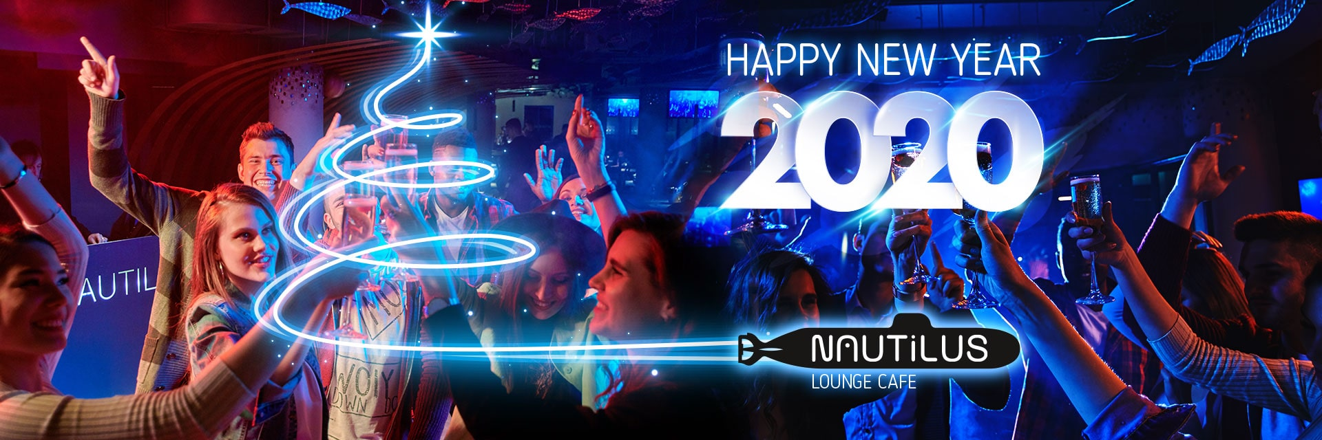 New Year Party 2020 at NAUTILUS Lounge Cafe in RESORT & SPA HOTEL NEMO, photo № 1