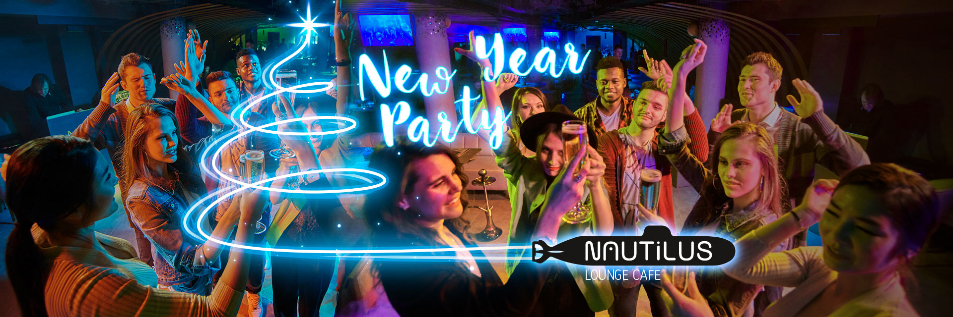 New Year Party 2021 в NAUTILUS Lounge Cafe в RESORT & SPA HOTEL NEMO, фото № 1